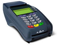 Photorealistic Illustration Of POS-terminal Royalty Free Stock Image