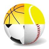 Photorealistic image of sports balls  Royalty Free Stock Photo