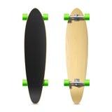 Photorealistic longboard, skateboard Στοκ Φωτογραφίες