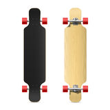 Photorealistic longboard, skateboard Stock Photos