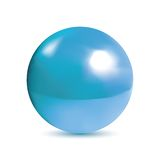 Photorealistic shiny blue orb. Very realistic shiny, reflective blue orb or pearl. Gradient mesh used Stock Images