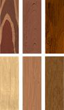 Photorealistic types of wood. Realistic five types of wood with the ability to change colors. Fully Stock Image