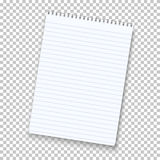 Photorealistic Vector Notepad Isolated on Transparent Background Royalty Free Stock Photography