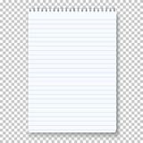 Photorealistic Vector Notepad  on Transparent Background Royalty Free Stock Photos