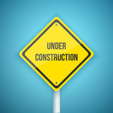 Photorealistic Vector Website Under Construction Road Sign Stock Image