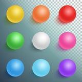 Photorealistic Vektor-Ball-gesetzte Schablone Stockfotografie