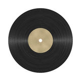 Photorealistic vinyl record. Illustration with blank label you can write or draw into Stock Photography