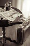 Photoreporter packing Stock Image