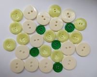 Group of green buttons royalty free stock photography