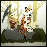 Photos étonnantes des amies de personnes et de tigre Image libre de droits