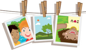Photos. Illustration of photos on white Stock Image