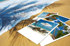 Photos. Tropic beach theme collage composed of few photos Royalty Free Stock Image