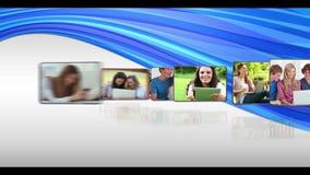 Photos animées du divers media étant employé clips vidéos
