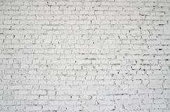 Photos of the background. Painted brick wall. Royalty Free Stock Photos