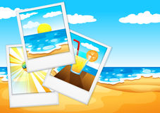 Photos at the beach Stock Photography