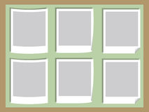 Photos Board. Illustration of Blank Photos on the Board Stock Photography