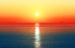 Photos bright sunset Royalty Free Stock Photography