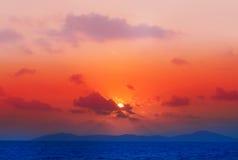 Photos bright sunset Royalty Free Stock Photos