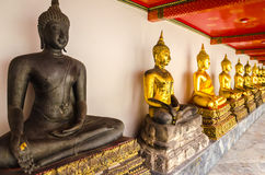 The Photos  Buddhas in the temple Royalty Free Stock Photos