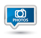 Photos (camera icon) prime blue banner button Royalty Free Stock Images