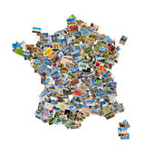 Photos collage in the shape of France Royalty Free Stock Photo