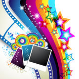Photos collection with colored stars Royalty Free Stock Images
