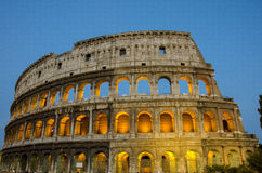 Colosseum in Rome by night. Stock Photo