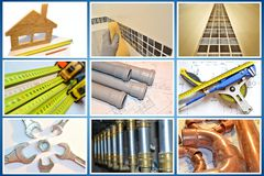 Photos for constructions magazines. Royalty Free Stock Photography