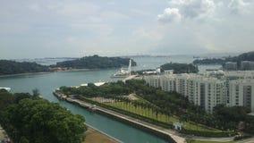 Photos d'horizon de Singapour au jour image stock