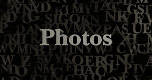 Photos - 3D rendered metallic typeset headline illustration. Can be used for an online banner ad or a print postcard Royalty Free Stock Photography
