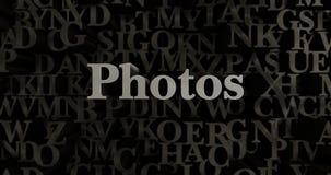 Photos - 3D rendered metallic typeset headline illustration Royalty Free Stock Photography