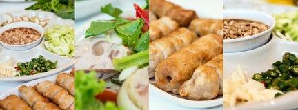 Photos de collage de nourriture vietnamienne image libre de droits