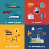 Photos de concept de la fabrication d'huile Exploration de carburant illustration stock