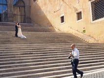 Photos de mariage à Rome Photographie stock libre de droits