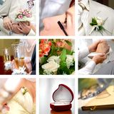 Photos de mariage réglées Image stock