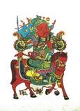 Photos de nouvelle année de gardien de but de chinois traditionnel illustration stock