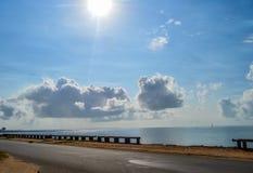 Photos de plage de Maputo du club naval près de la route de Julius Nyerere dedans photographie stock