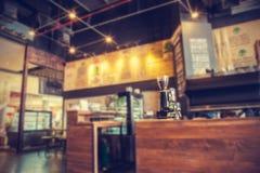 Photos de style d'effet de vintage de café-restaurant de tache floue Photographie stock