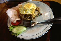 Photos of delicious fried rice from indonesia. royalty free stock images