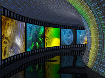 Photos in digital tunnel Stock Photography