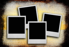 Photos on dirty background Royalty Free Stock Photography