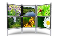 Photos Display Stand Royalty Free Stock Image