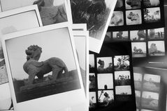 Photos and  film contact. Black and white Stock Photos