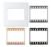 Photos film frames. Set of slide mount, slide frame, negative frame, for various design usage Stock Photography