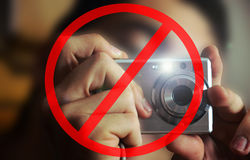 Photos forbidden Stock Photography