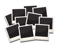 Photos frames. A stack of photos frames, replace with images and messages Stock Photo