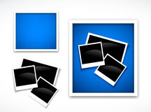 Photos frames. Isolated on the white vector illustration