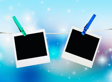 Photos frames on the background of Christmas Royalty Free Stock Photography