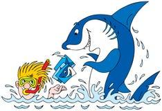 Photos for the Great white shark stock illustration