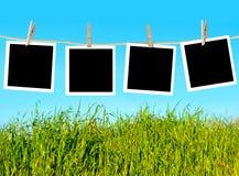 Photos hanging Stock Photo
